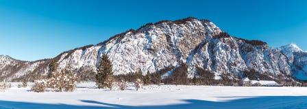 Panorama av bergskedja Arkivbilder