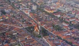 Panorama av Bistrita, Rumänien, Europa Royaltyfri Bild
