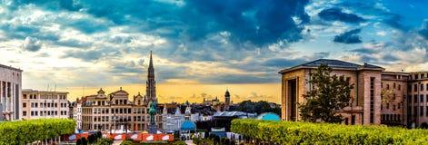 Panorama av Bryssel Arkivbilder
