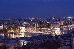 Panorama av Budapest Royaltyfri Fotografi