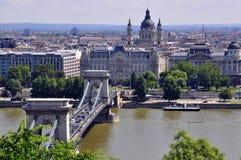 Panorama av Budapest Royaltyfri Foto