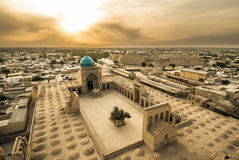 Panorama av Bukhara, Uzbekistan royaltyfri foto