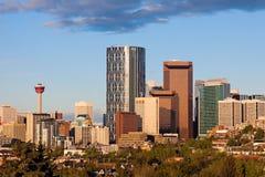 Panorama av Calgary Arkivfoton