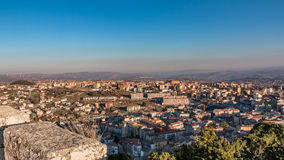 Panorama av Campobasso Arkivbilder