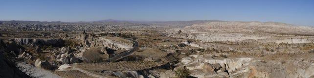 Panorama av Cappadocia Arkivfoton