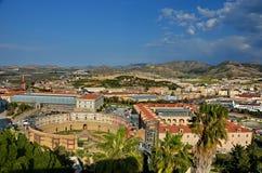 Panorama av Cartagena Arkivfoton