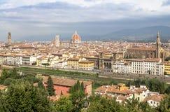 Panorama av cityscape Florence, Tuscany, Italien Arkivfoton