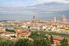 Panorama av cityscape Florence, Tuscany, Italien Arkivbilder