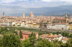 Panorama av cityscape Florence, Tuscany, Italien Arkivfoto