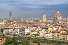 Panorama av cityscape Florence, Tuscany, Italien Royaltyfri Fotografi