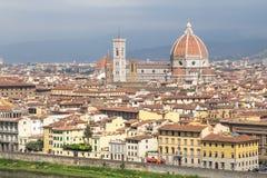 Panorama av cityscape Florence, Tuscany, Italien Royaltyfria Foton