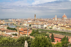 Panorama av cityscape Florence, Tuscany, Italien Royaltyfri Foto