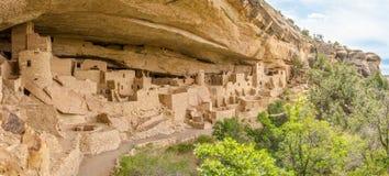 Panorama av Cliff Palace - Mesa Verde Arkivfoto