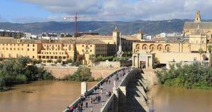 Panorama av Cordoba gjorde från Torre De Calahorra lager videofilmer