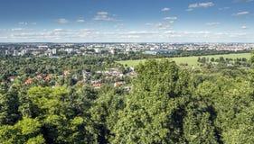Panorama av Cracow Royaltyfri Bild