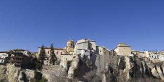 Panorama- av Cuenca, Spanien Fotografering för Bildbyråer