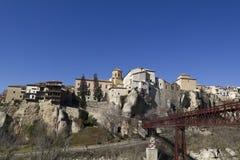 Panorama- av Cuenca, Spanien Royaltyfri Bild