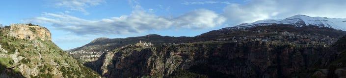 Panorama av dalen royaltyfria foton