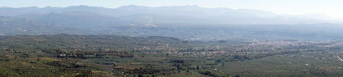 Panorama av dalen arkivbilder