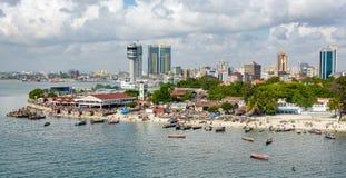 Panorama av Dar Es Salaam Arkivbild