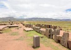 Panorama av den komplexa pumaen Punku för megalithic sten Royaltyfria Foton