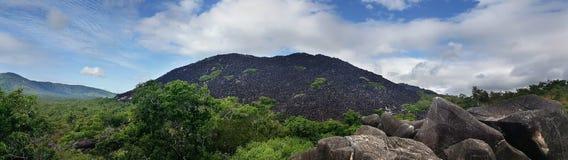 Panorama av de svarta bergen Fotografering för Bildbyråer