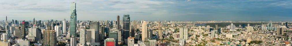 Panorama av den Bangkok staden av Thailand Arkivfoto