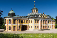 Panorama av den barocka Schloss belvederen, Weimar royaltyfria bilder