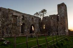 Panorama av den Bective abbotskloster Royaltyfria Bilder