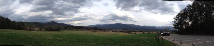 Panorama- av den Cades lilla viken Arkivfoto