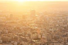 Panorama av den europeiska staden, tak Arkivbilder