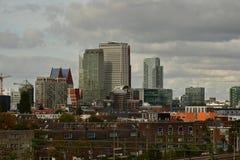 Panorama av den Haag affärsmitten arkivbild