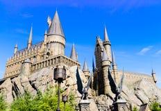 Panorama av den Hogwarts skolan av Harry Potter arkivbilder