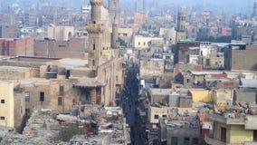 Panorama av den islamiska Kairo stock video