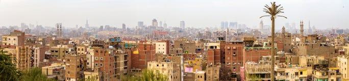 Panorama av den islamiska Kairo Arkivbild