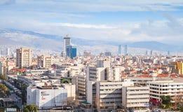 Panorama av den Izmir staden, Turkiet Royaltyfri Fotografi