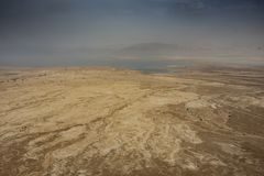 Panorama- av den Judean öknen royaltyfri foto