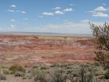 Panorama av den målade öknen Arkivbild