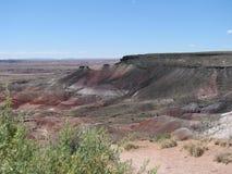 Panorama av den målade öknen Arkivfoto