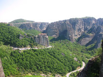 Panorama av den Meteora dalen - materielbild Royaltyfria Foton