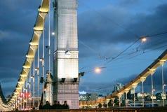 Panorama av den Moscow staden på natten Royaltyfri Bild