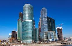 Panorama av den Moscow staden, Ryssland Arkivbild