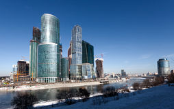 Panorama av den Moscow staden, Ryssland Arkivbilder