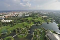 Panorama av den Munich staden royaltyfri fotografi