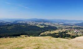 Panorama från den Ochodzita kullen Arkivfoton