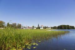Panorama av den ortodoxa kyrkan för ryss Arkivbilder