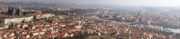 Panorama av den Prague staden Royaltyfri Fotografi