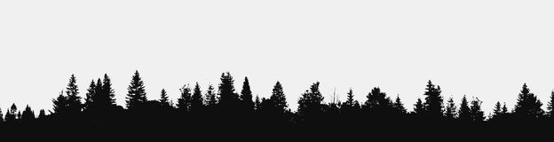 Panorama av den realistiska skogen Royaltyfri Bild