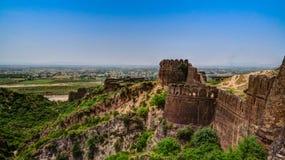 Panorama av den Rohtas fästningen i Punjab Pakistan Royaltyfri Foto