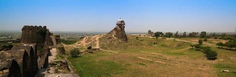 Panorama av den Rohtas fästningen i Punjab Pakistan arkivbild